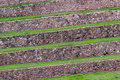 Terraces at moray sacred valley peru green near maras of incas peruvian andes Stock Images