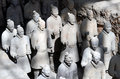 Terracotta army inside the qin shi huang mausoleum in xian china Stock Photo