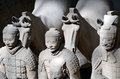 Terracotta army inside the qin shi huang mausoleum in xian china Royalty Free Stock Image