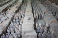 Terracotta army qin dynasty in xi an china Royalty Free Stock Image