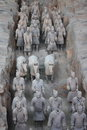 Terracotta army qin dynasty in xi an china Stock Photo