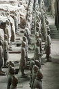 Terracotta Army Soldiers Horses, Xian China Travel Royalty Free Stock Photo