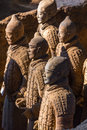 The Terracotta Army or the Terra Cotta Warriors and Horses Royalty Free Stock Photo