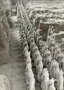 Terracotta army in xian part of the china Stock Photography