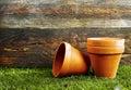 Terracotta flower pots Royalty Free Stock Photo