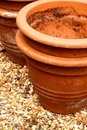 Terracotta plant pots Royalty Free Stock Photos