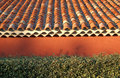 Terracotta roof tiles Stock Photo