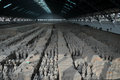 Terracotta warrior display unearthed warriors on Stock Image