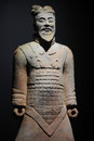 Terracotta warrior duplicate of soldier from xian china Stock Photography