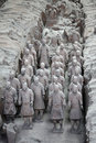 Terracotta warriors, China Royalty Free Stock Photo