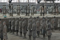 Terracotta warriors unearthed on display Stock Images