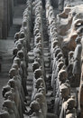 Terracotta warriors unearthed on display Royalty Free Stock Photos