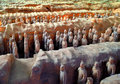 Terracotta warriors xi an china also known as army and soldiers Stock Photography