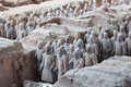Terracotta Warriors in Xian, China Royalty Free Stock Photos
