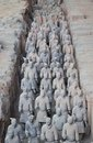 Terracotta warriors in xian china group of ancient from qin dynasty unesco world heritage Stock Image
