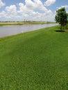 Terrain de golf en construction Image stock