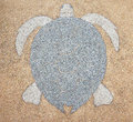 Terrazzo floor, patterned snapping turtle Royalty Free Stock Photo
