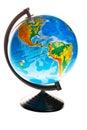 Terrestrial globe isolated on white background Stock Image