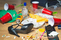 Terrible mess after party Royalty Free Stock Photo