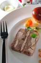 Terrine meat french cuisine game pheasant Stock Images