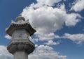 On the territory Giant Wild Goose Pagoda or Big Wild Goose Pagoda, Xian Royalty Free Stock Photo