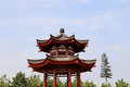 On the territory Giant Wild Goose Pagoda or Big Wild Goose Pagoda, Xian Royalty Free Stock Photo