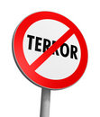 Terror Free Zone Stock Photo