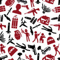 Terrorism theme set of simple icon seamless pattern eps10