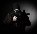 Terrorist portrait Royalty Free Stock Images