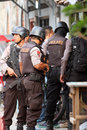 Terrorists police searched a house belonging to suspected in the city of solo central java indonesia Stock Photos