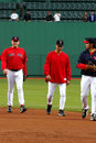 Terry Fracona e Curt Schilling Boston Red Sox Fotografie Stock
