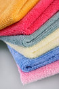 Terry towels folded Stock Images