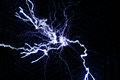 Tesla coil lightning a bolt from a Stock Images