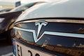 Tesla Motors logo Royalty Free Stock Photo