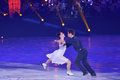 Tessa Virtue en Scott Moir Royalty-vrije Stock Foto's