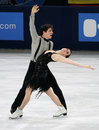 Tessa virtue scott moir can paris november of canada perform short dance at eric bompard trophy in palais omnisports de bercy Stock Images