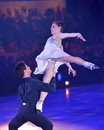 Tessa virtue and scott moir moscow russia february in action during gala concert of olympic champions in figure skating in Stock Photos