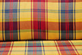 Tessile attenuata plaid Fotografie Stock