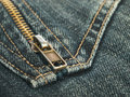 Tessile dei jeans Immagine Stock