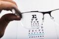 Test of eye glasses Royalty Free Stock Photo