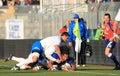 Test match Italia del rugbi contra Samoa; Canale Imágenes de archivo libres de regalías