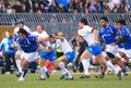 Test match Italia del rugbi contra Samoa; Justin Va'a Fotografía de archivo