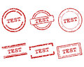 Test stamps detailed and accurate illustration of Stock Photos