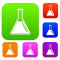 Test tube with oil set collection Royalty Free Stock Photo