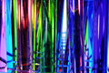 Test tubes closeup of a pile of with liquids of different colors Royalty Free Stock Photos