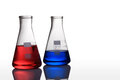 Test tubes with colorful liquids Royalty Free Stock Photo