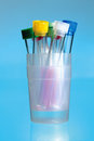 Test tubes in laboratory Stock Photo