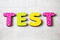 Test Royalty Free Stock Photo