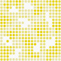 Teste padrão amarelo e branco r de dot mosaic abstract design tile da polca Fotografia de Stock Royalty Free