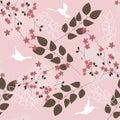Teste padrão floral cor-de-rosa Fotografia de Stock
